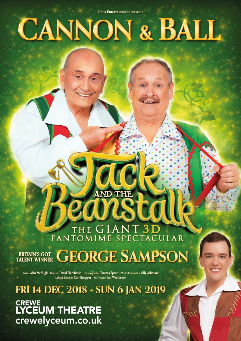 Stefan Pejic in Jack and the Beanstalk, Crewe Lyceum Theatre, 2018/2019